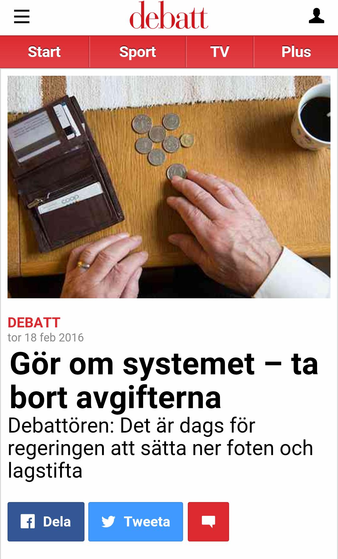 2016-02: Aftonbladet Debatt