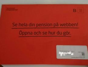 Öppna, öppna inte ett orange kuvert.