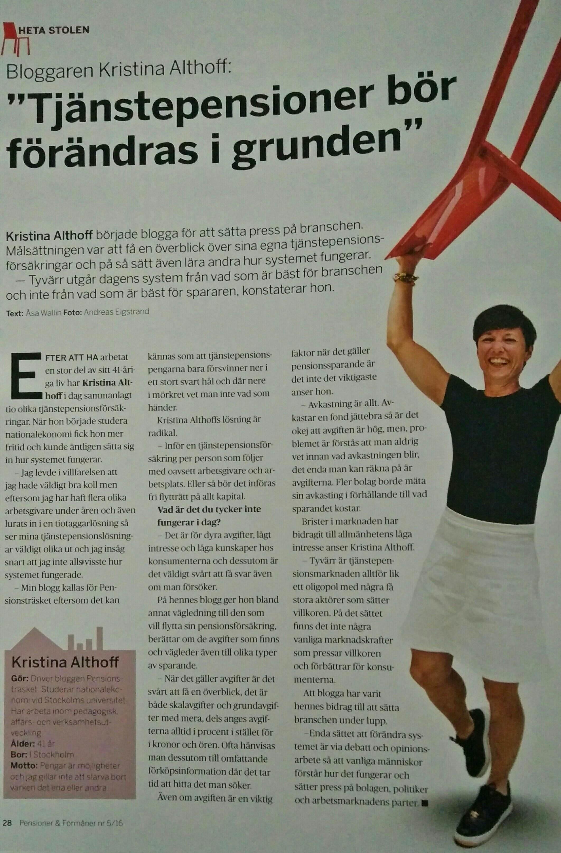 2016-05: Pensioner & Förmåner Heta Stolen